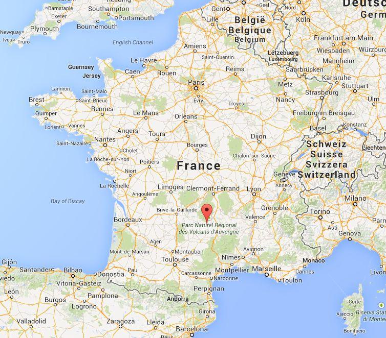 Aurillac France  city photos : Où nous sommes Localisation du gîte de Vines